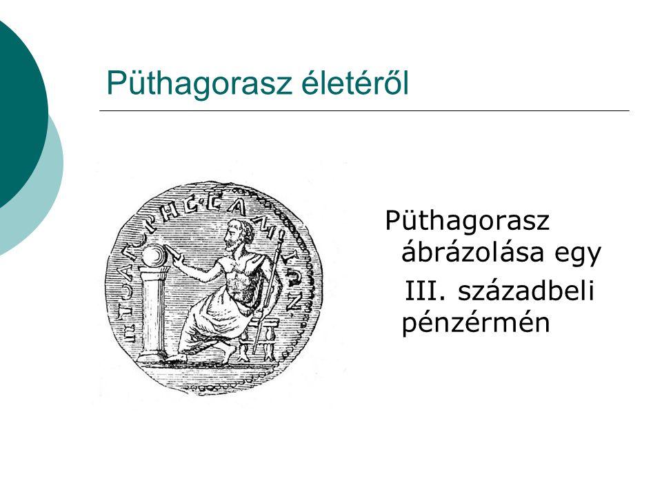 Püthagorasz életéről III. századbeli pénzérmén