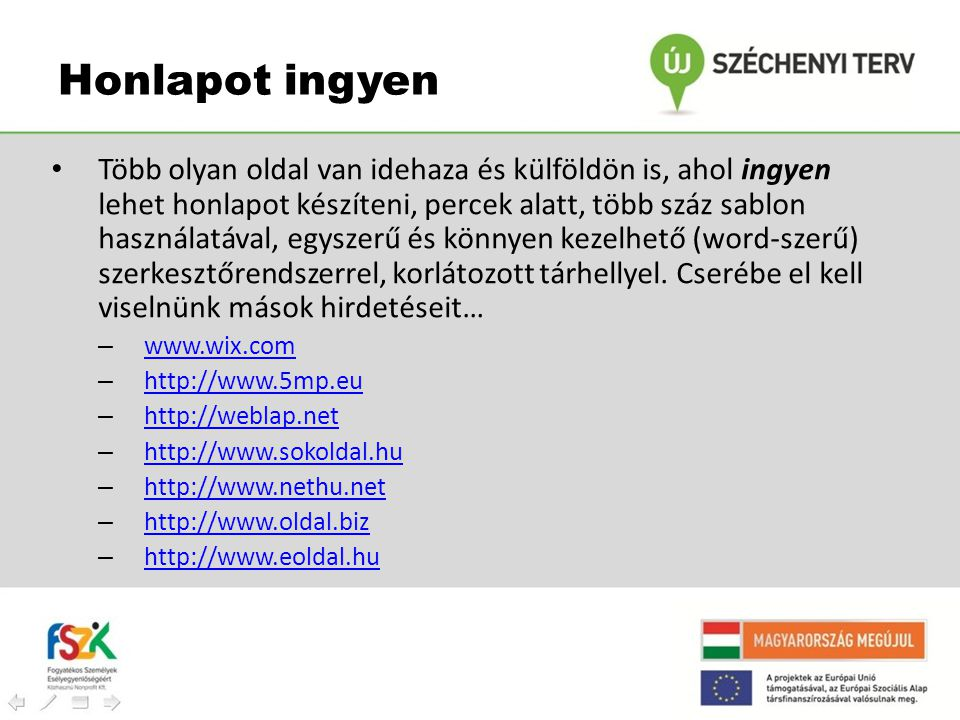 Honlapot ingyen