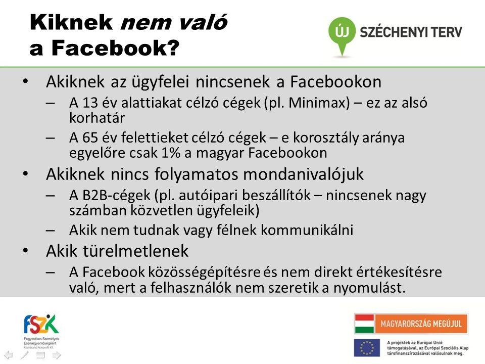 Kiknek nem való a Facebook