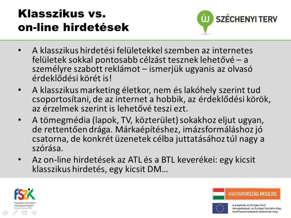 Klasszikus vs. on-line hirdetések