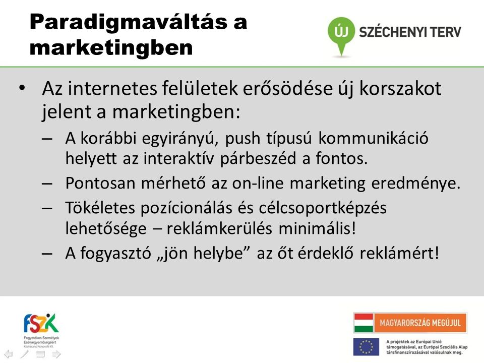 Paradigmaváltás a marketingben