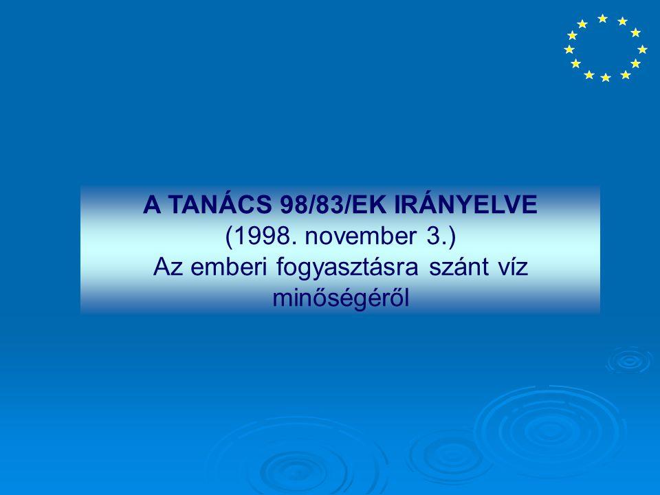 A TANÁCS 98/83/EK IRÁNYELVE (1998. november 3.)