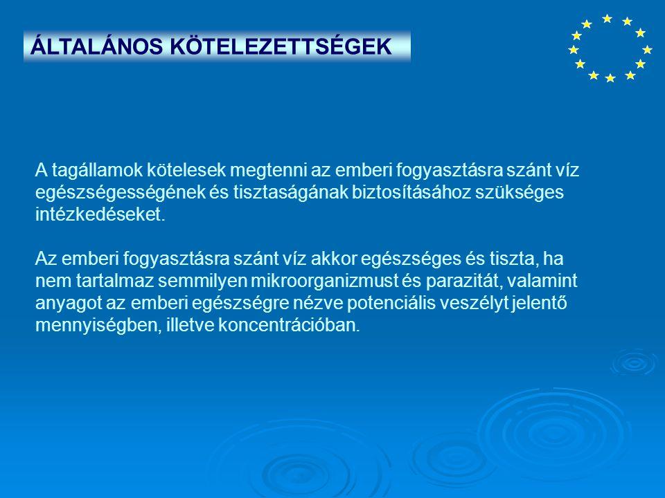 ÁLTALÁNOS KÖTELEZETTSÉGEK