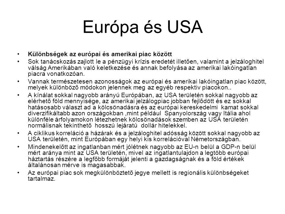 Európa és USA Különbségek az európai és amerikai piac között