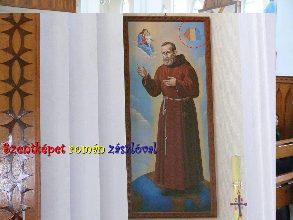 Szentképet román zászlóval