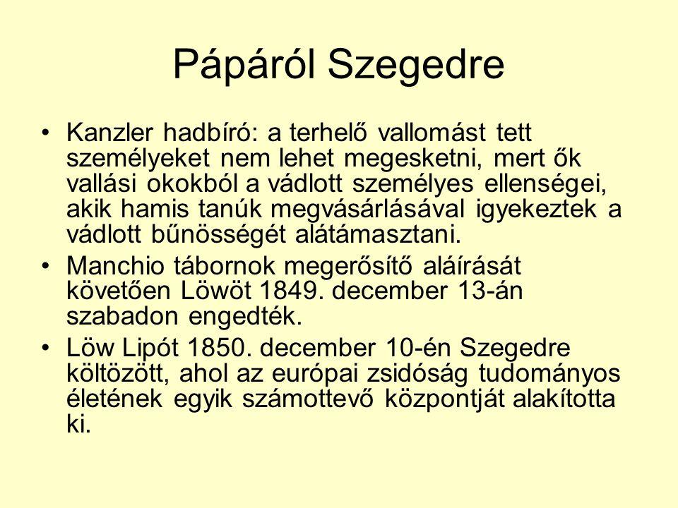 Pápáról Szegedre