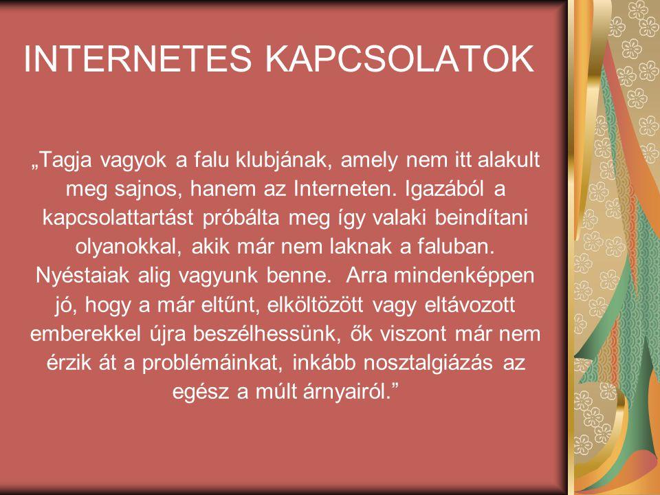 INTERNETES KAPCSOLATOK