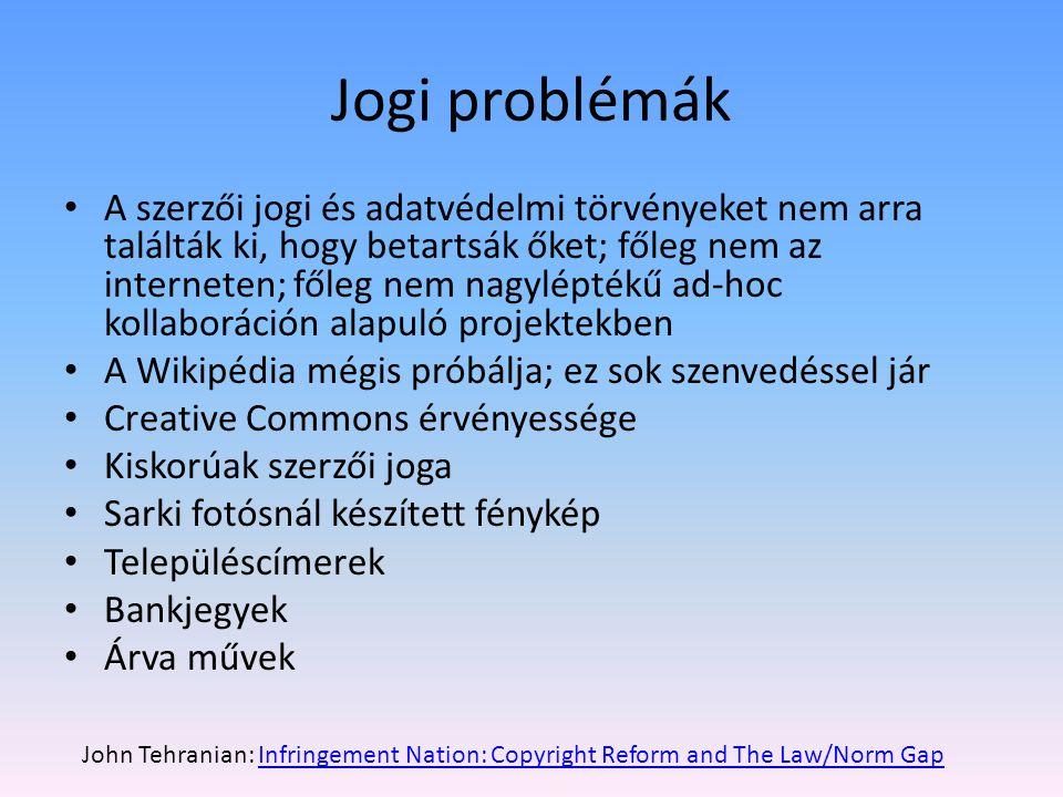 Jogi problémák