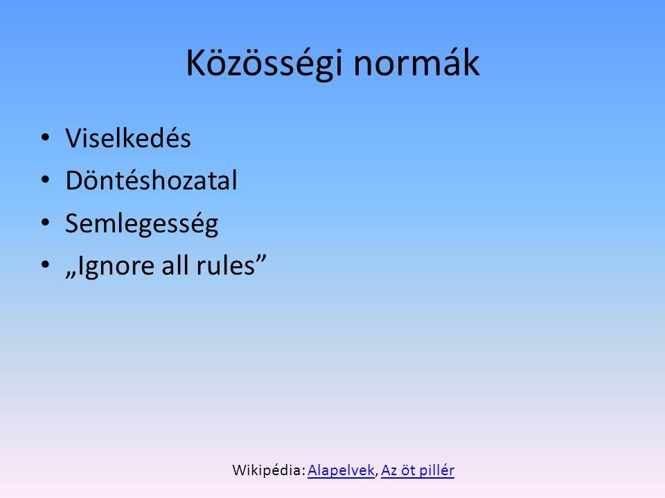 Wikipédia: Alapelvek, Az öt pillér