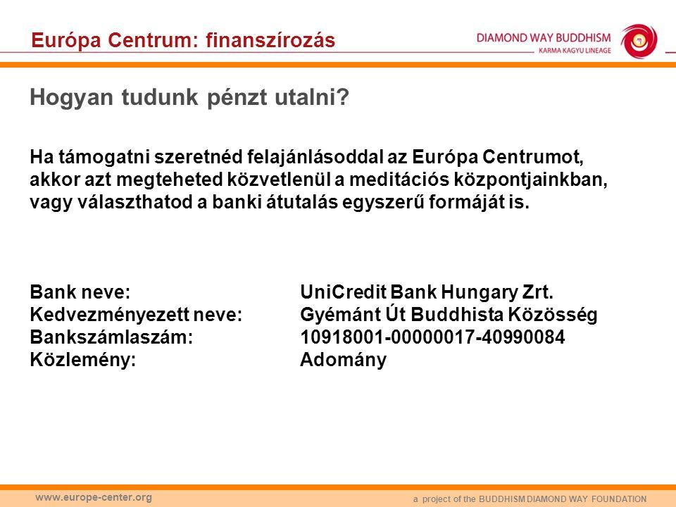 Európa Centrum: finanszírozás