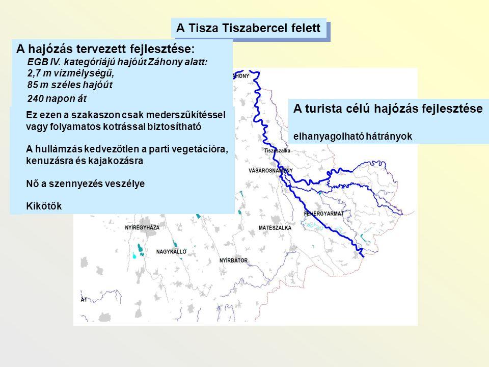 A Tisza Tiszabercel felett