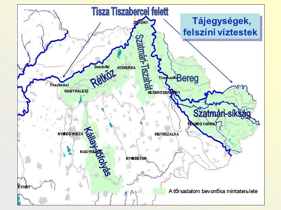Tisza Tiszabercel felett