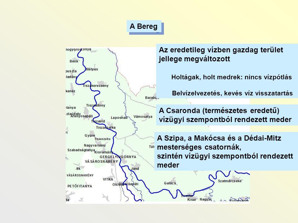 Az eredetileg vízben gazdag terület jellege megváltozott
