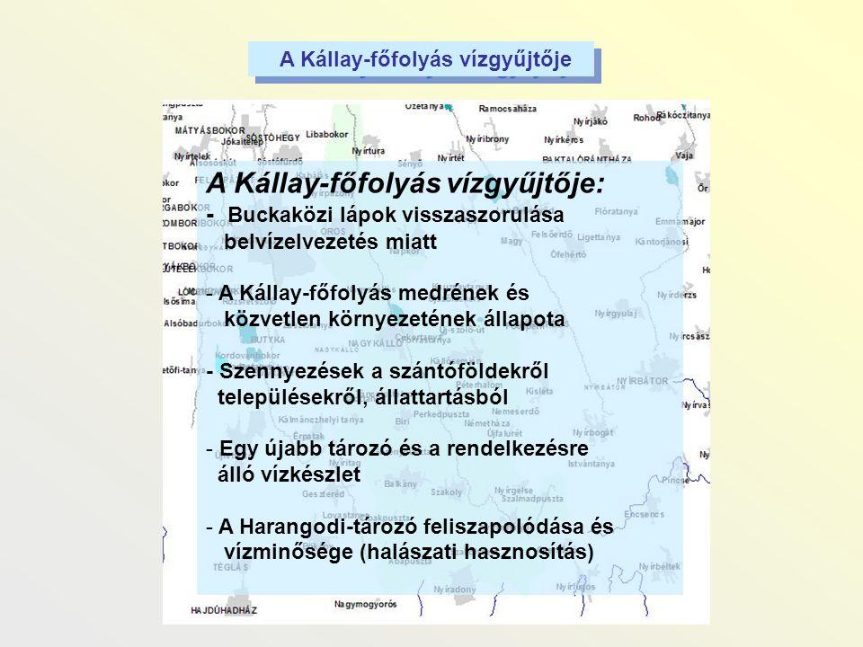 A Kállay-főfolyás vízgyűjtője: