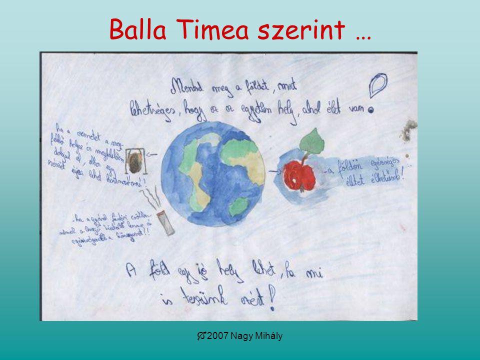 Balla Timea szerint … 2007 Nagy Mihály