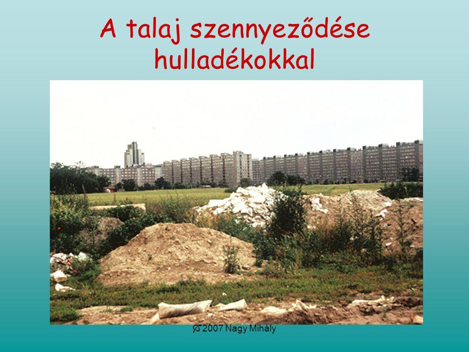 A talaj szennyeződése hulladékokkal
