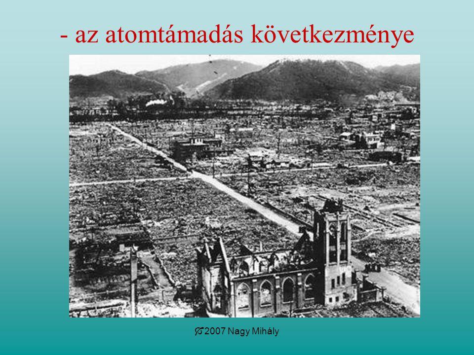 - az atomtámadás következménye