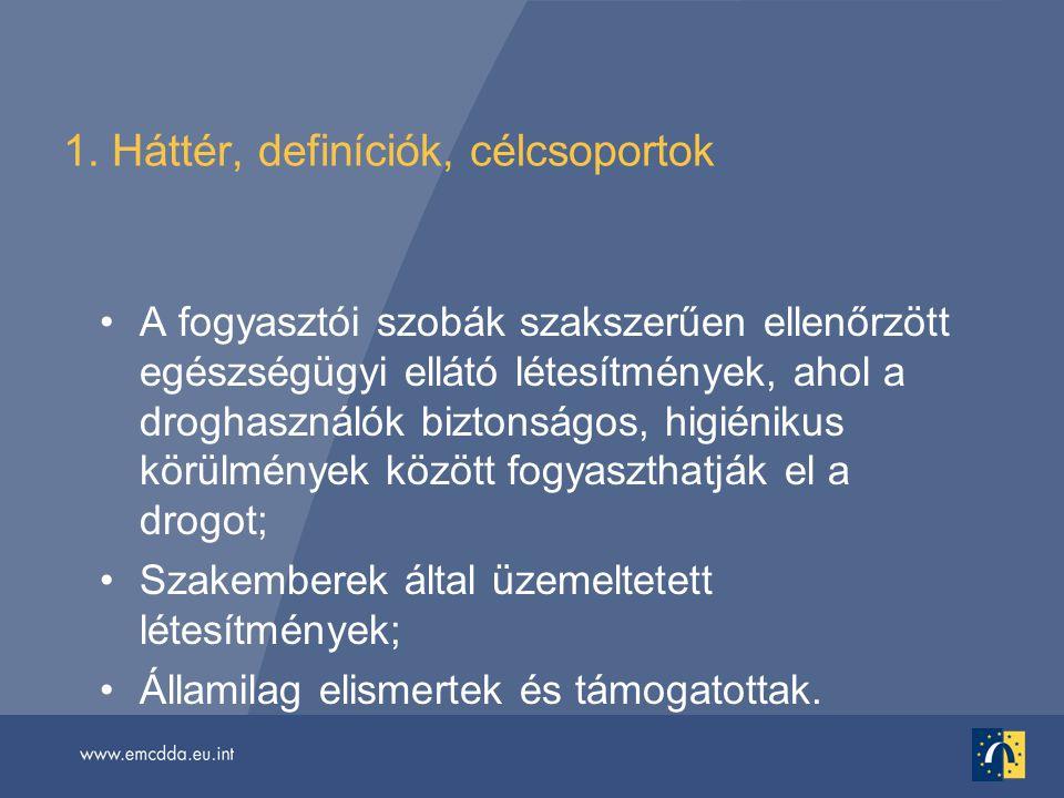 1. Háttér, definíciók, célcsoportok
