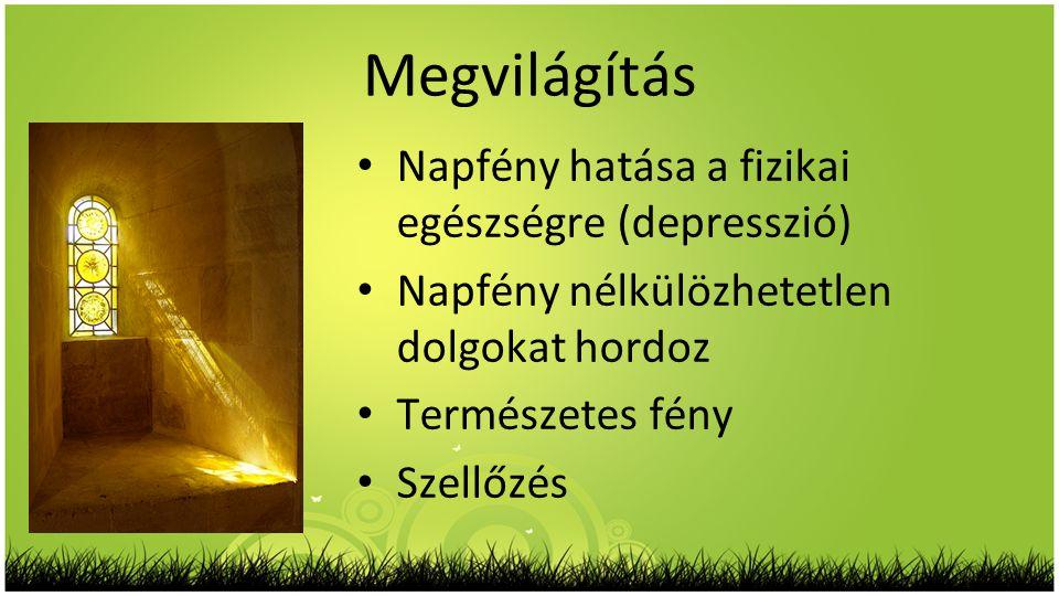 Megvilágítás Napfény hatása a fizikai egészségre (depresszió)