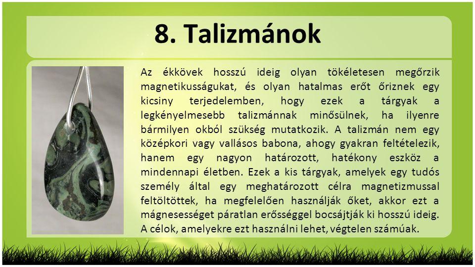 8. Talizmánok