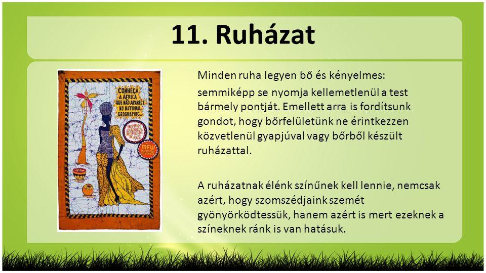 11. Ruházat