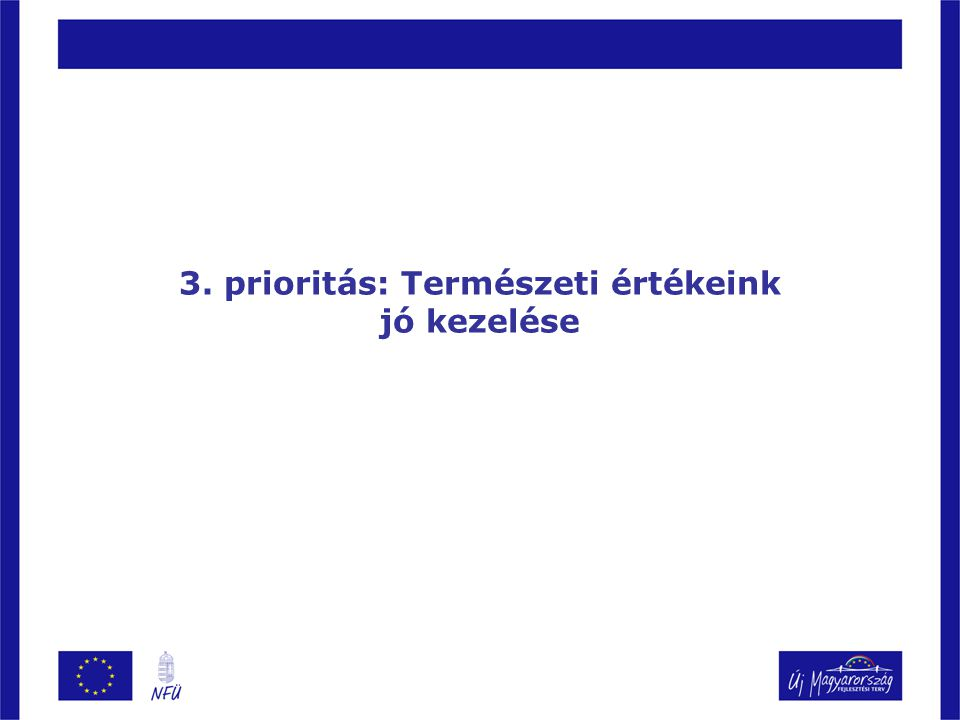 3. prioritás: Természeti értékeink jó kezelése