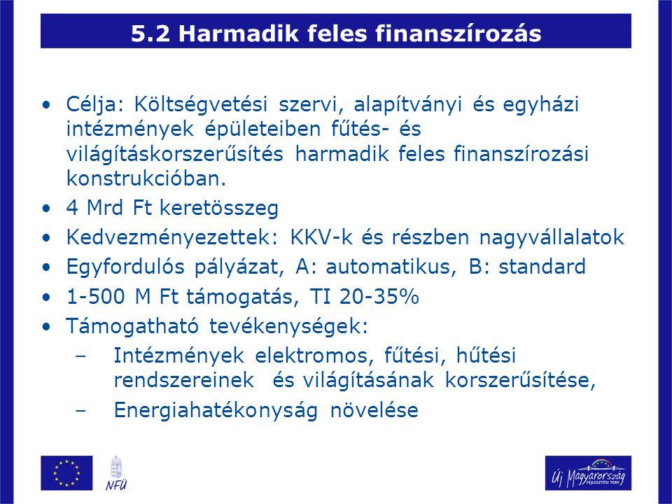 5.2 Harmadik feles finanszírozás