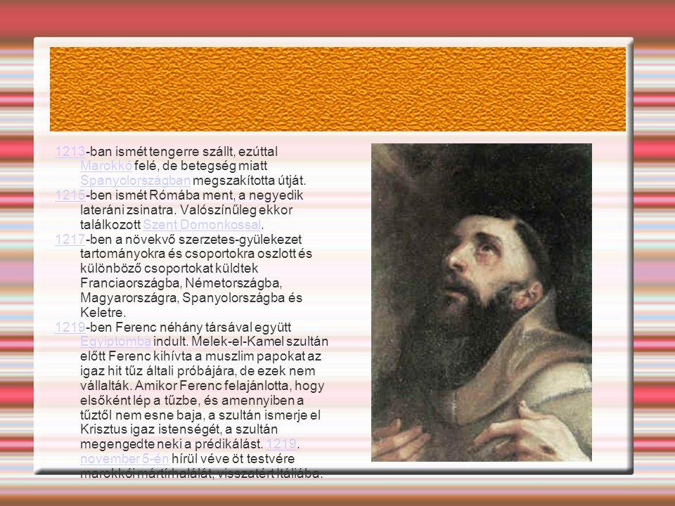 1213-ban ismét tengerre szállt, ezúttal Marokkó felé, de betegség miatt Spanyolországban megszakította útját.