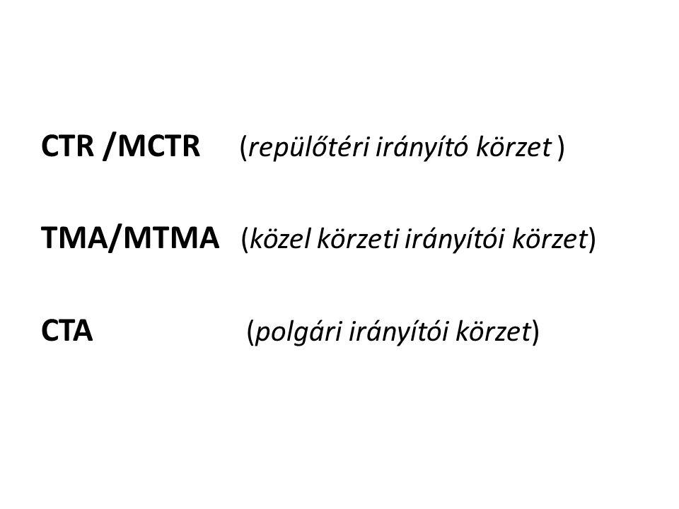 CTR /MCTR (repülőtéri irányító körzet )