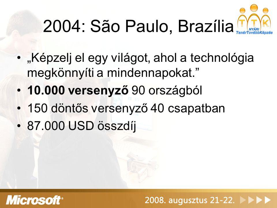 """2004: São Paulo, Brazília """"Képzelj el egy világot, ahol a technológia megkönnyíti a mindennapokat."""