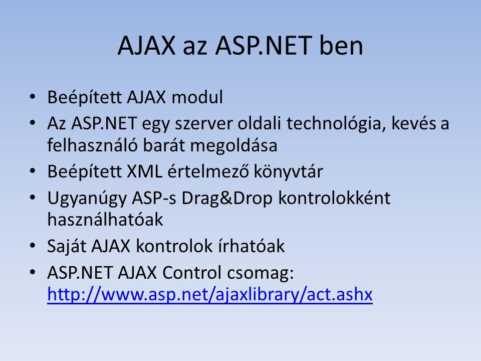 AJAX az ASP.NET ben Beépített AJAX modul