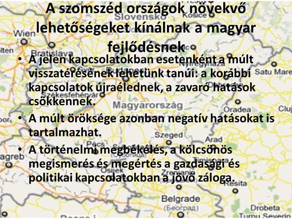 A szomszéd országok növekvő lehetőségeket kínálnak a magyar fejlődésnek