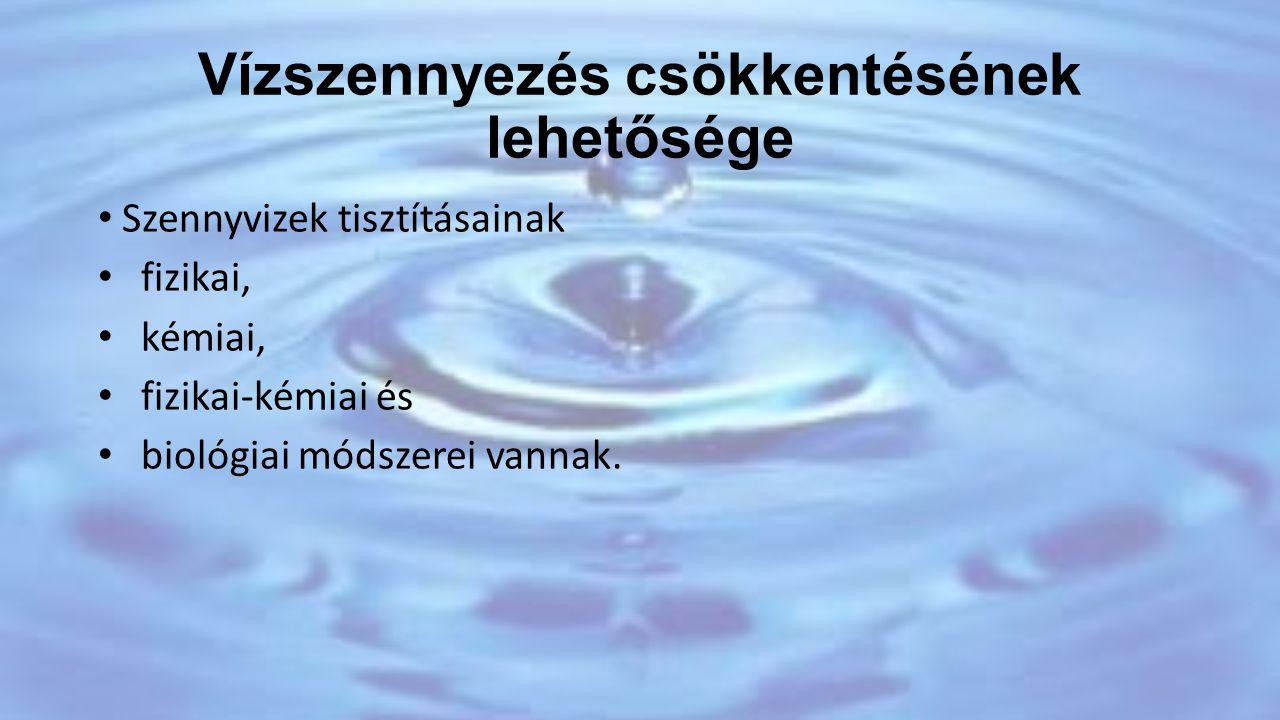Vízszennyezés csökkentésének lehetősége