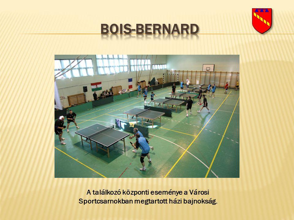 Bois-bernard A találkozó központi eseménye a Városi Sportcsarnokban megtartott házi bajnokság.