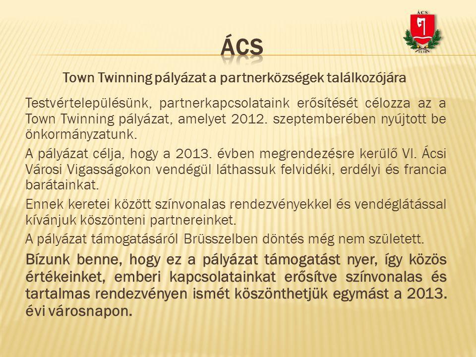 Town Twinning pályázat a partnerközségek találkozójára