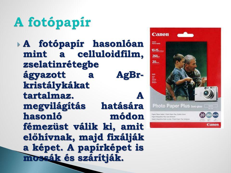 A fotópapír