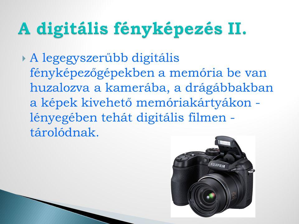 A digitális fényképezés II.