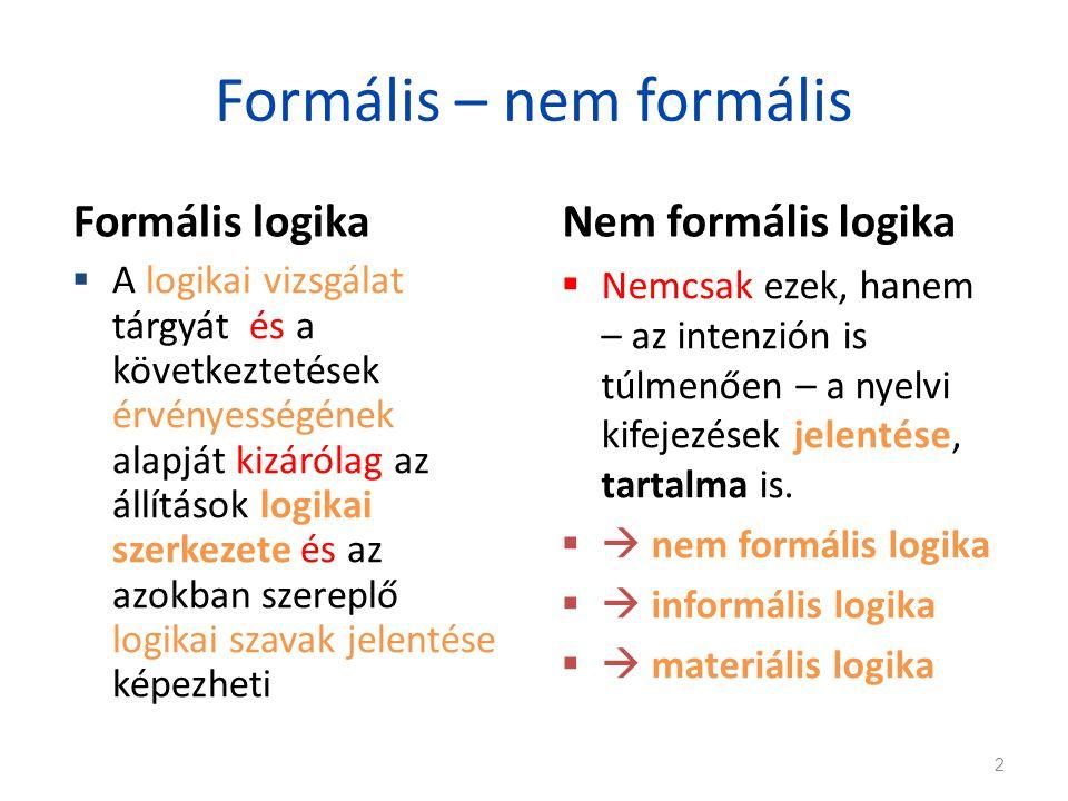 Formális – nem formális
