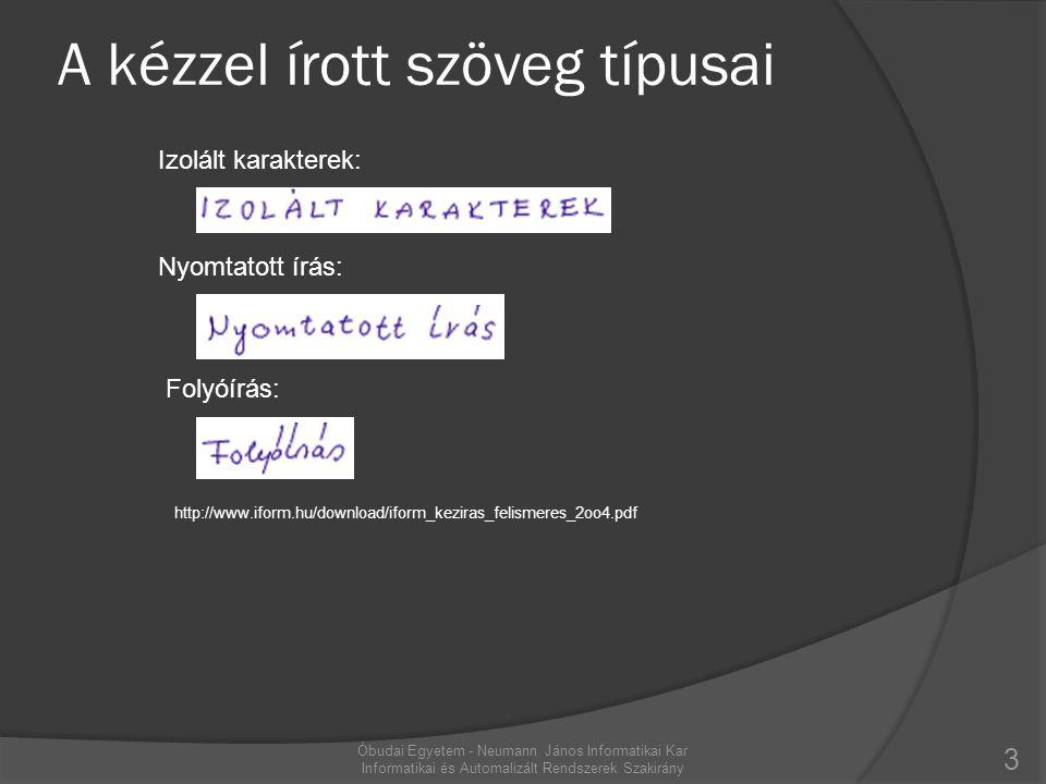 A kézzel írott szöveg típusai
