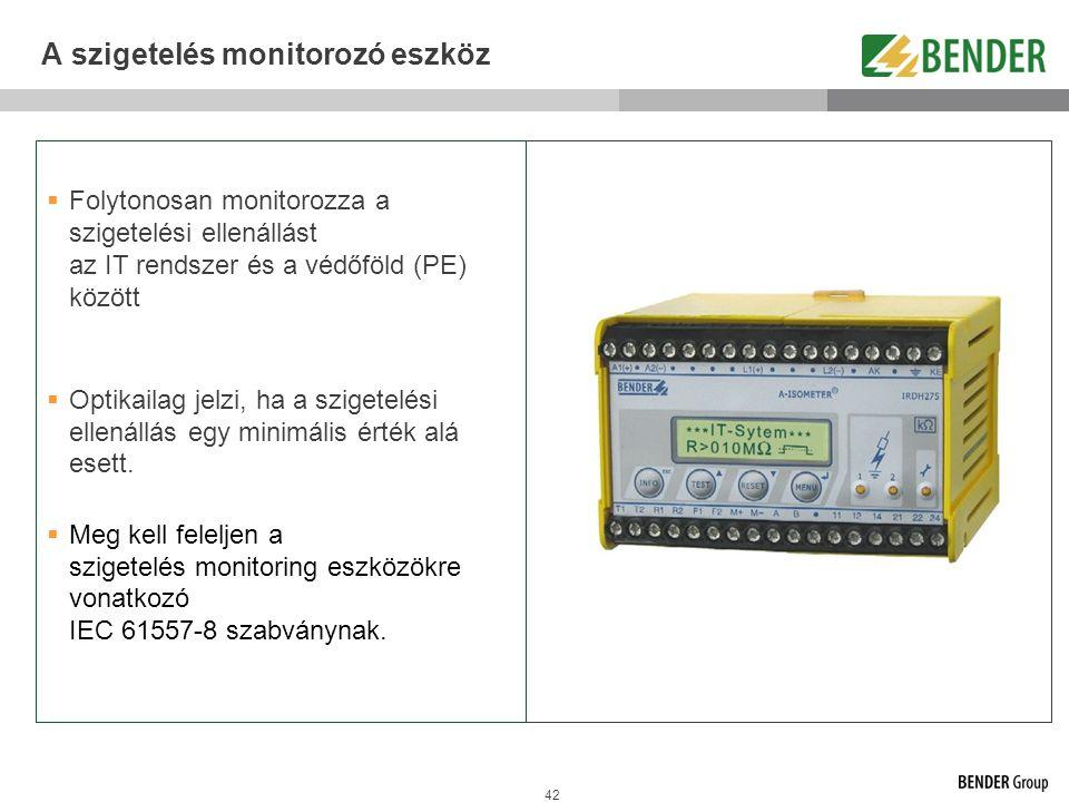 A szigetelés monitorozó eszköz