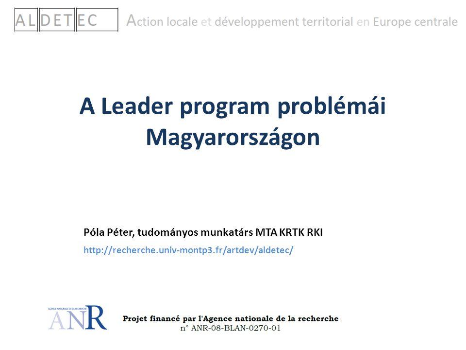 A Leader program problémái Magyarországon