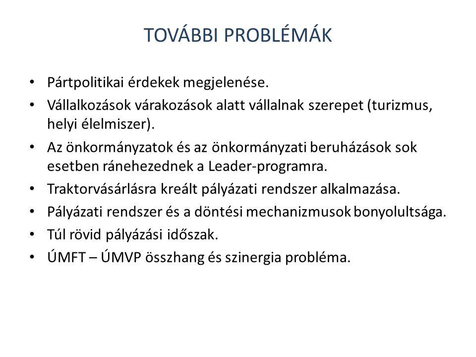 További problémák Pártpolitikai érdekek megjelenése.