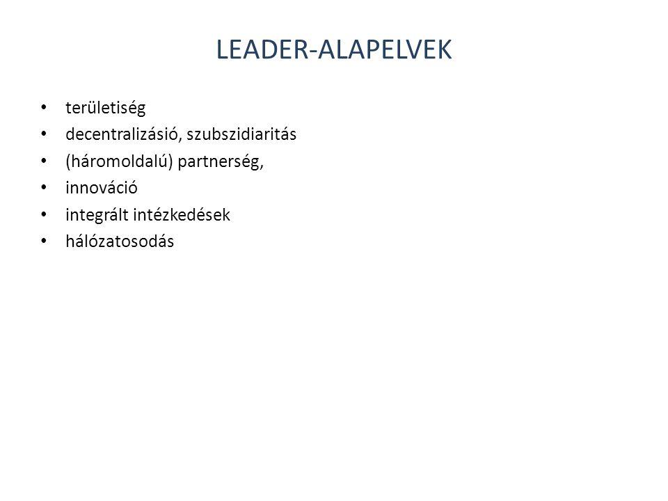 Leader-alapelvek területiség decentralizásió, szubszidiaritás