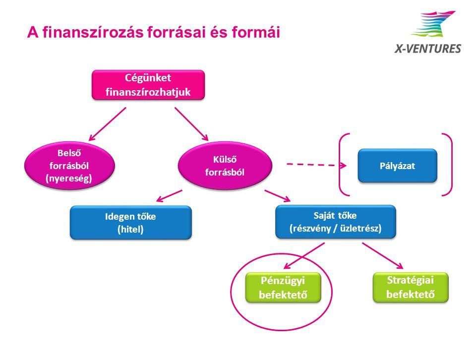A finanszírozás forrásai és formái