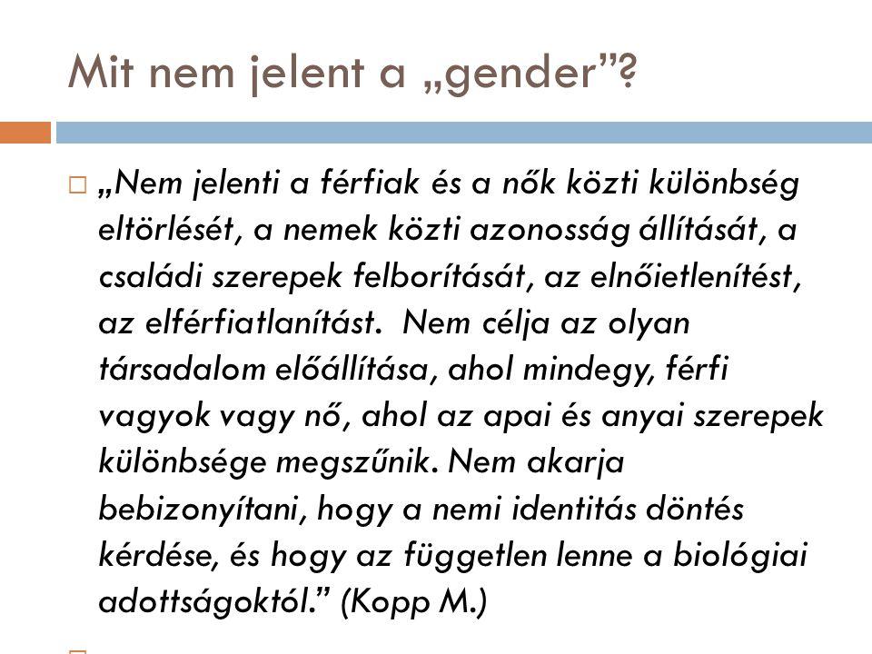"Mit nem jelent a ""gender"