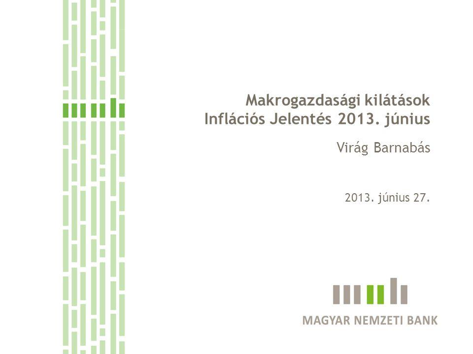 Makrogazdasági kilátások Inflációs Jelentés 2013. június