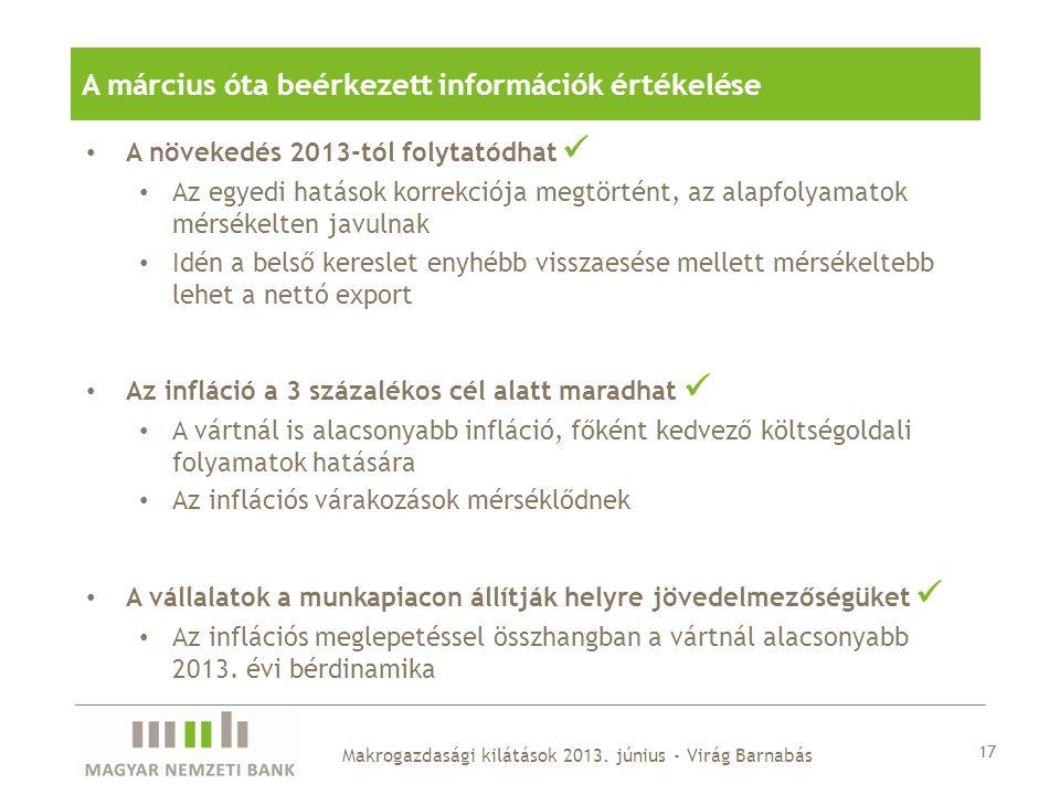 A március óta beérkezett információk értékelése
