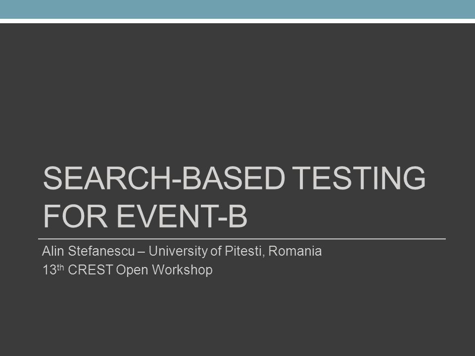 Search-based testing for Event-B