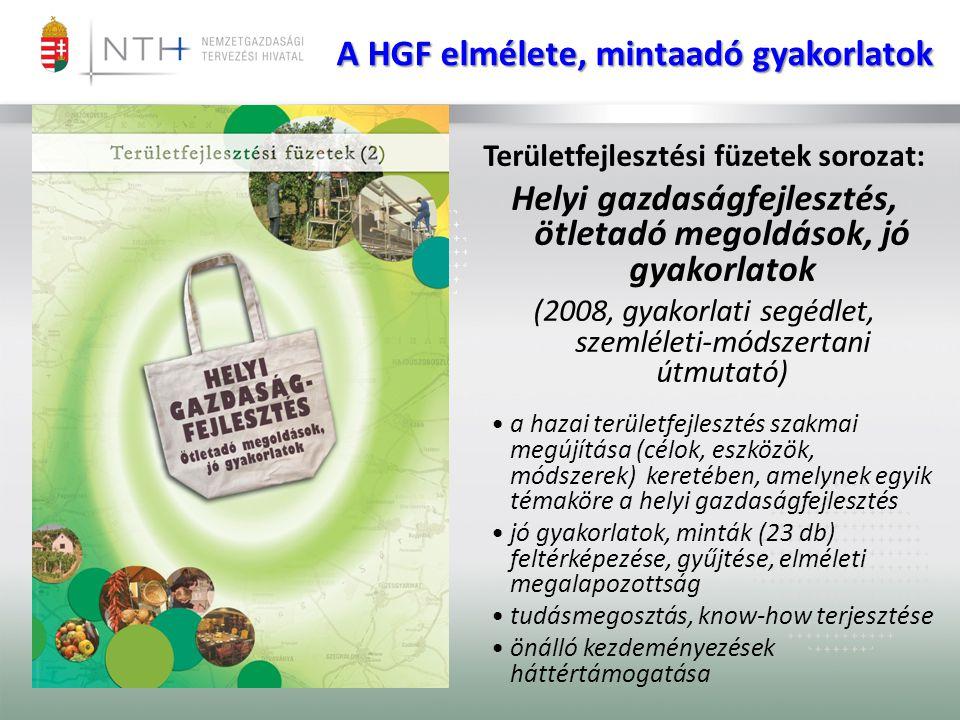 A HGF elmélete, mintaadó gyakorlatok