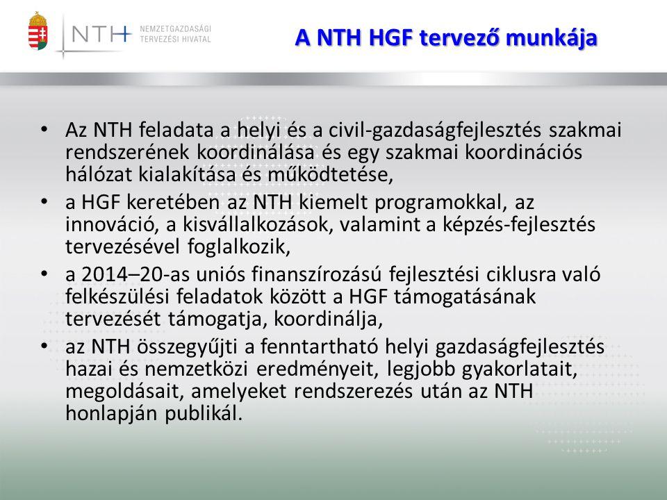 A NTH HGF tervező munkája
